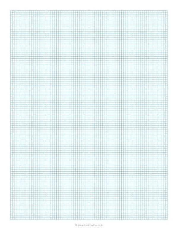 1/10 Grid Plain Graph Paper Blue