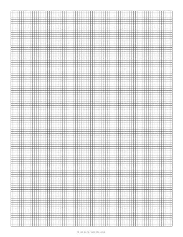 1/10 Grid Plain Graph Paper