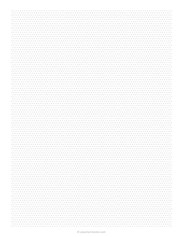 1/10 Inch Isometric Dotted Graph Paper