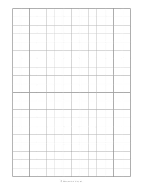 1/2 Engineering Graph Paper