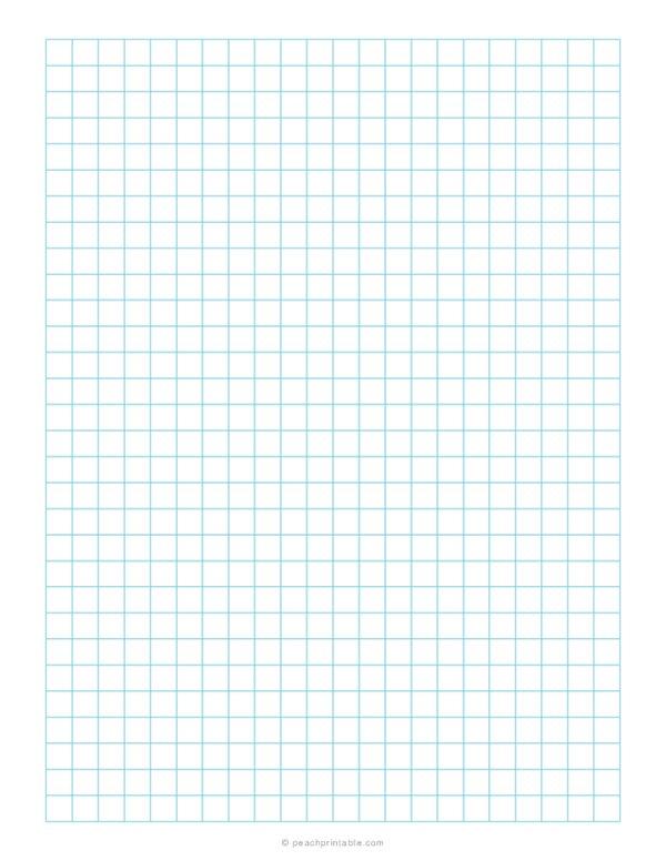 1/3 Grid Plain Graph Paper Blue