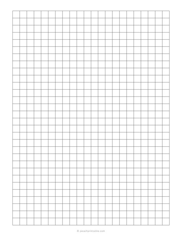 1/3 Grid Plain Graph Paper