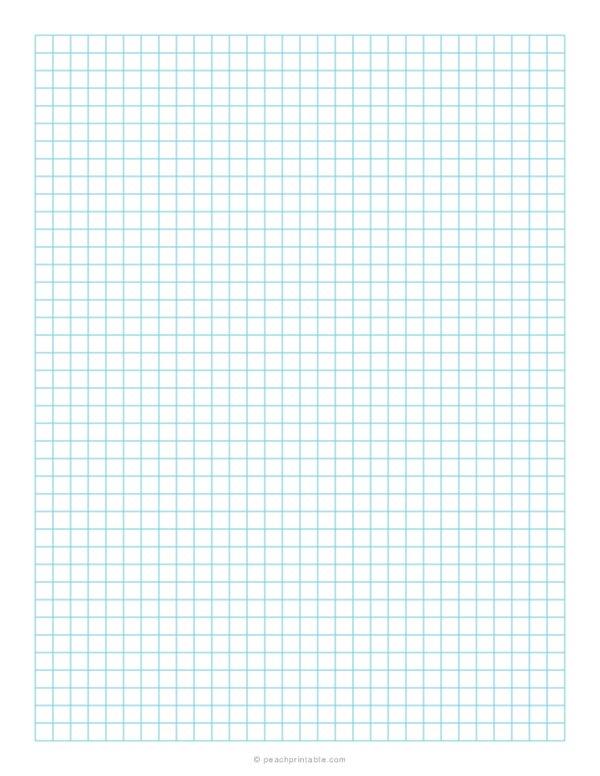 1/4 Inch Grid Plain Graph Paper Blue