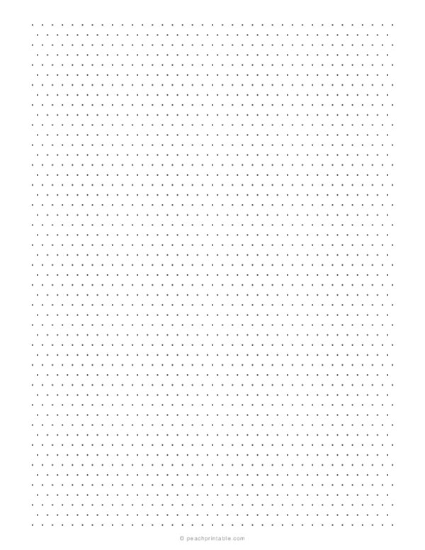 1/5 Inch Isometric Dotted Graph Paper