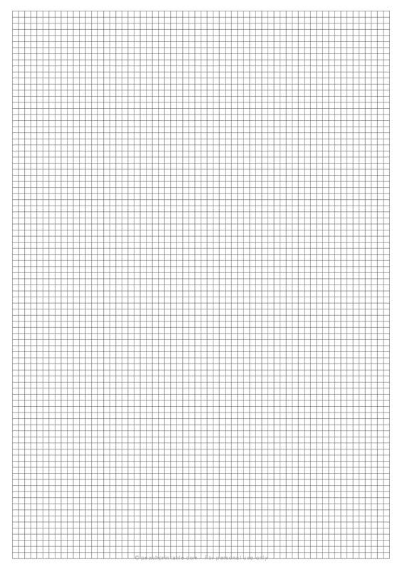 1/8 Grid Plain Graph Paper on A4