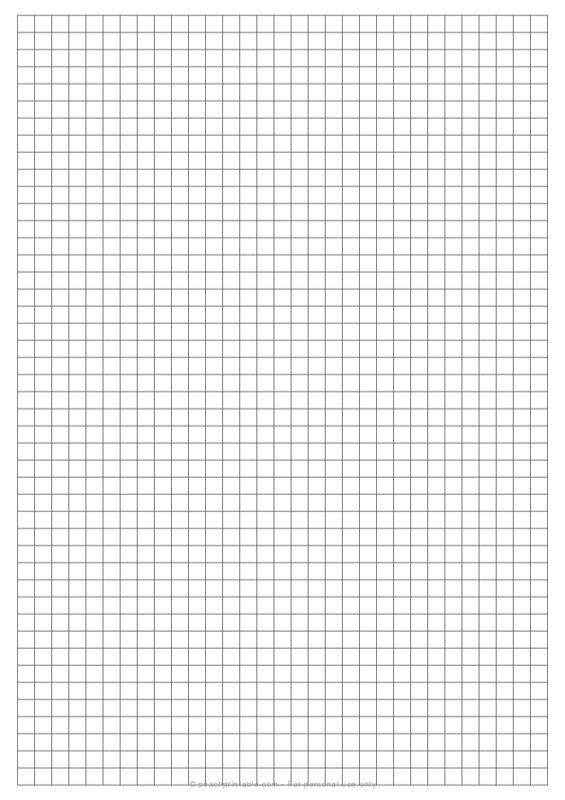 1/4 inch Grid Plain Graph Paper on A4