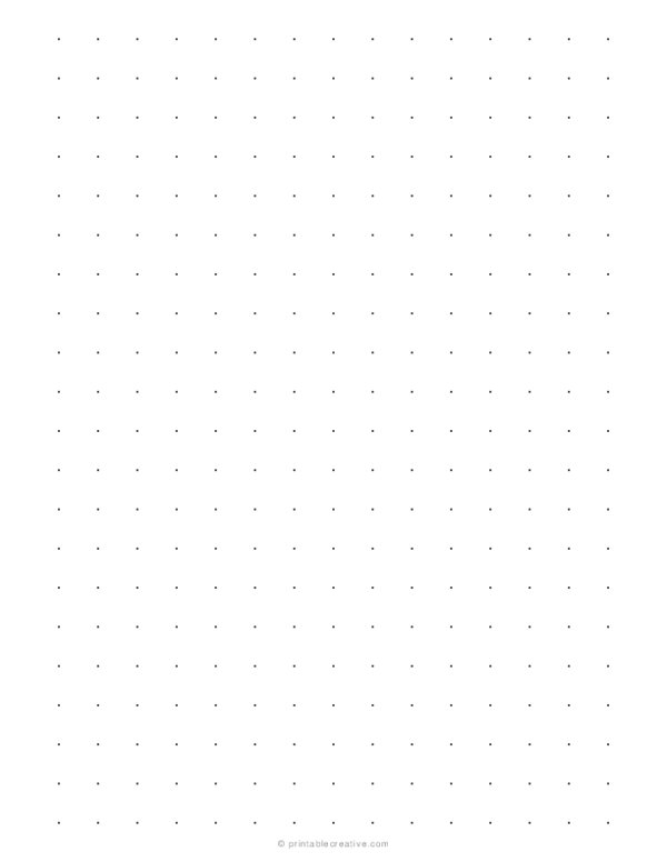 1/2 Dot Grid Paper