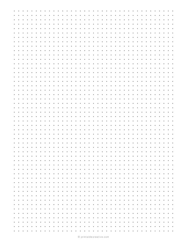 1/5 Dotted Grid Paper