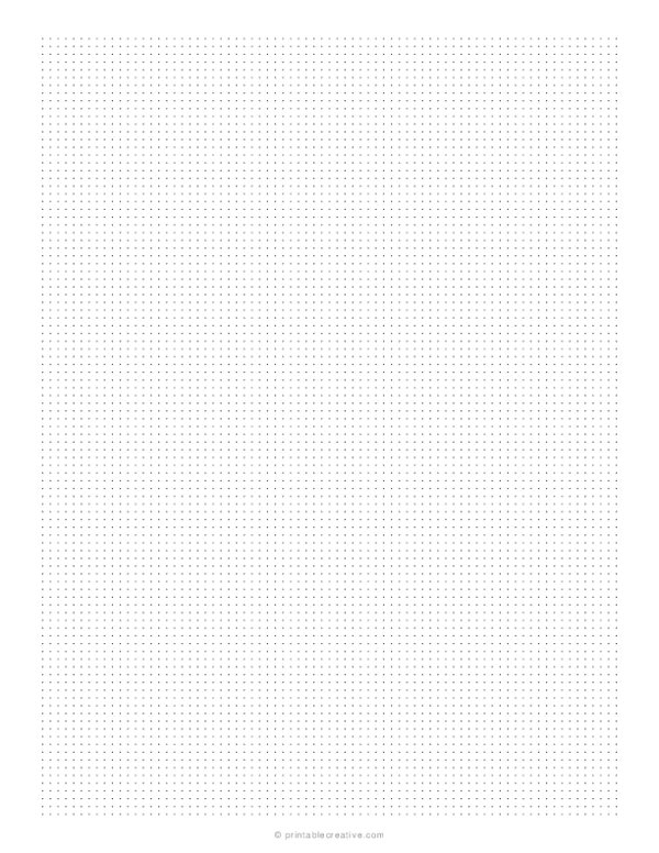 1/10 Dotted Grid Paper