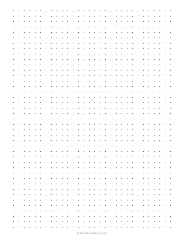 1/4 Dotted Grid Paper