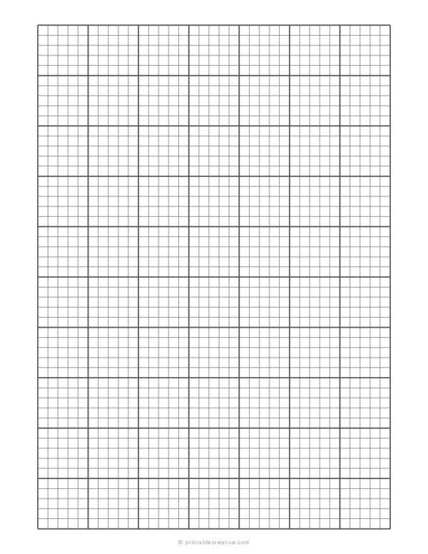 1/5 Engineering Graph Paper
