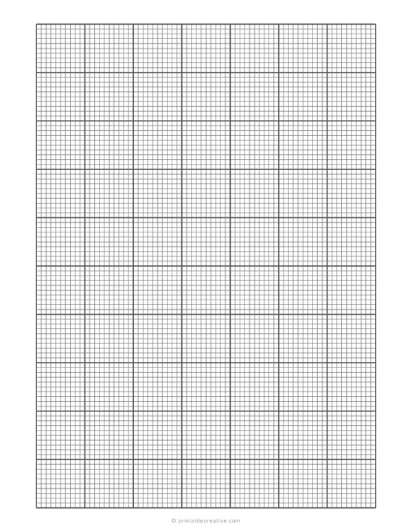 1/10 Engineering Graph Paper