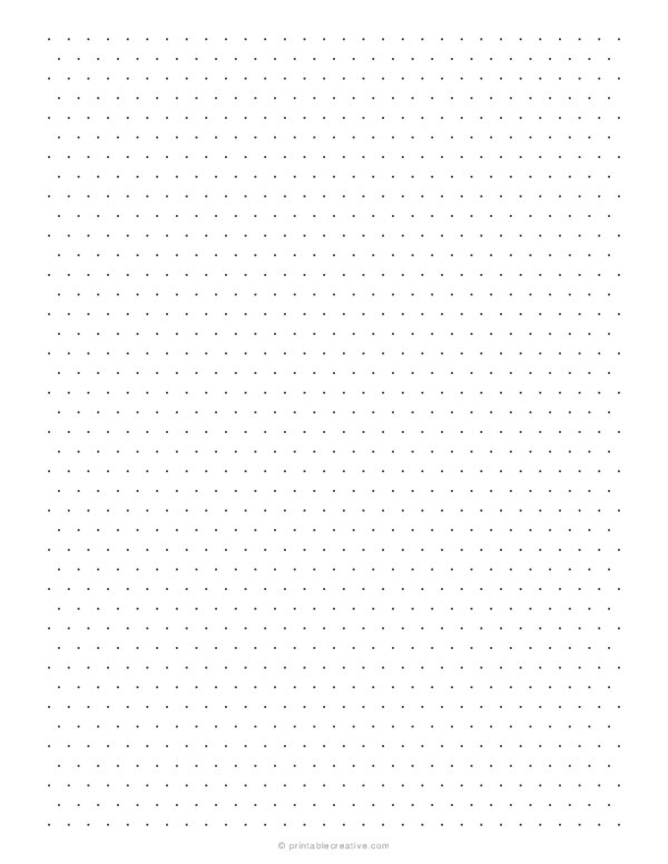 1/4 Isometric Dotted Graph Paper