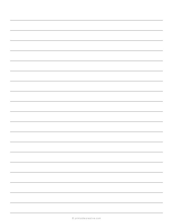 1/2 Lined Paper