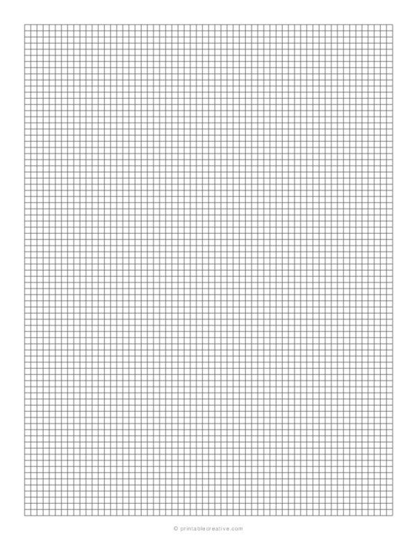 1/8 Grid Plain Graph Paper