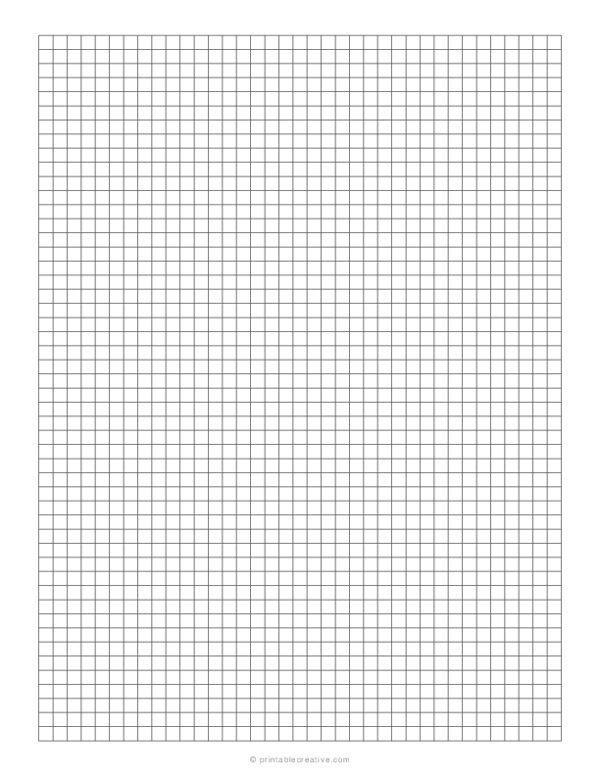 1/5 Grid Plain Graph Paper