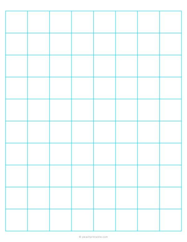 1 Grid Plain Graph Paper Blue