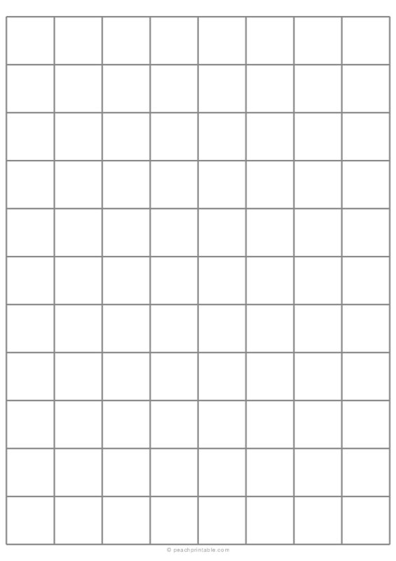 1 Grid Plain Graph Paper with Heavy Index Lines on A4