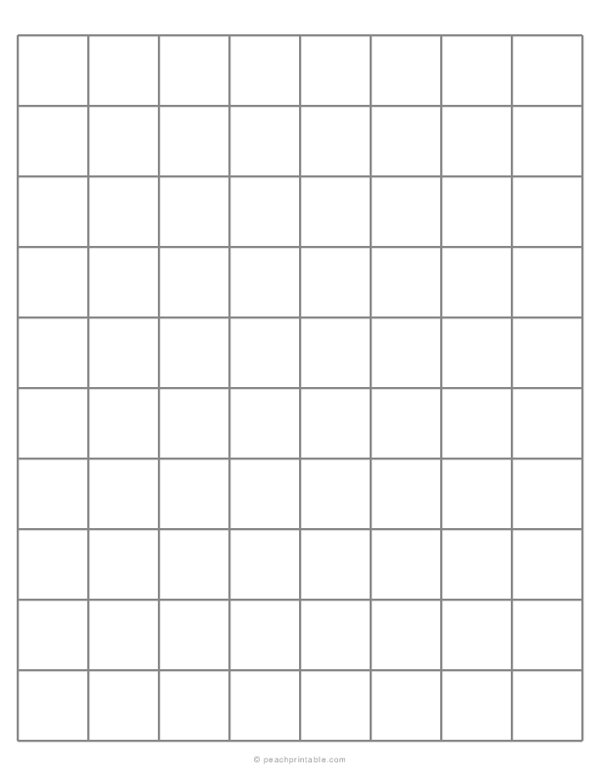 1 Grid Plain Graph Paper with Heavy Index Lines