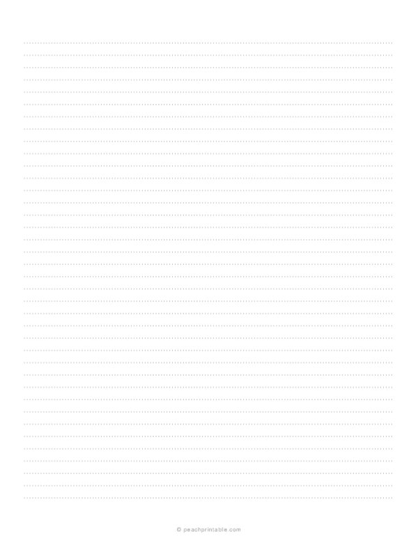 1/4 Dotted Lined Paper