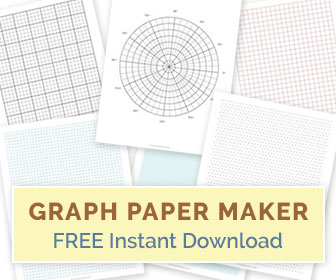 Create your own graph papers - Online graph paper maker